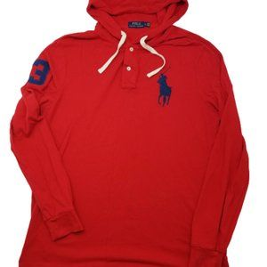 Polo Ralph Lauren Red Blue Hoodie Large